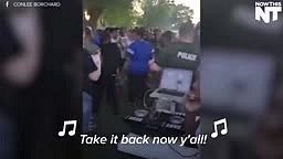 Black lives Matter cookout with the police
