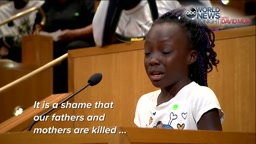 YOUNG GIRL'S TEARFUL PLEA:We are black people and we shouldn't have to feel like this