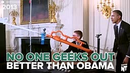 No one will ever geek out harder at The White House Science Fair than President Obama