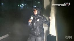 Watch News Reporters Forced To Stand In The Middle Of Hurricane Matthew