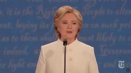Presidential Debate Hillary Clinton vs Donald Trump