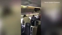 INSIDE American Airlines Flight 383 Screaming Passengers Run To Get Off Burning American Airlines Flight 383