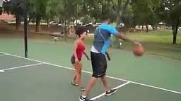 Hoopz Plays Basketball In ity bity Boy Shorts
