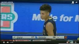 Kwame Morton Jr Scores 1st College Basket Kentucky vs Clarion