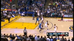 Russell Westbrook Blocks Kevin Durant Thunder vs Warriors
