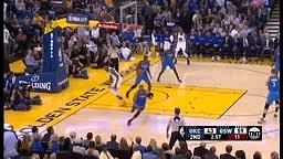 Russell Westbrook Blocks Kevin Durant Thunder vs Warriors