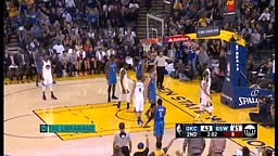 Kevin Durant Blocks Russell Westbrook Thunder vs Warriors