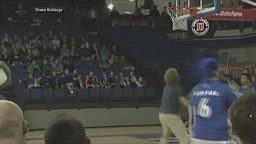 Drake University student won a car after hitting half court basketball shot