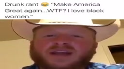 White Cowboy says Black Women are the most attractive women