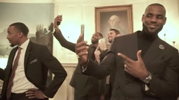 White House Mannequin Challenge with Obama & Cleveland Cavaliers
