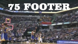 Stephen Curry 75 Foot Buzzer Beat Warriors vs Pacers