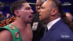 FIGHT almost breaks out Danny Garcia and Keith Thurman Argue FACE to FACE in the ring