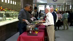 President Obama served Thanksgiving meals to Armed Forces Retirement Home residents