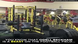 Odell Beckham's cousin, Terron is THAT dude at the gym