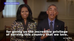 Pres. Barack Obama and First Lady Michelle Obama send farewell messag