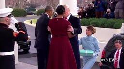 POTUS, FLOTUS Welcome Trumps to White House