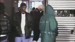 Diddy and Biggie leaving the scene at 2Pac Shooting 1994 Quad Studio