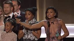 Taraji P. Henson touching acceptance speech for Hidden Figures at SAG Awards