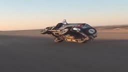 WTH! Saudi Arabians Change Tires On Moving Car