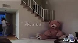 Man scares mother of his child by hiding in Giant Teddy Bear