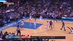 Russell Westbrook Shoves Kevin Durant Warriors vs Thunder