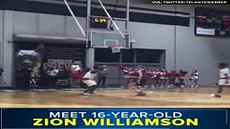 Zion Williamson is only 16, but his dunks are grown