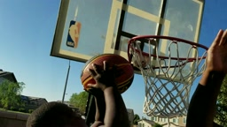 7 Year Old DUNKS on Dad LIKE SHAQ