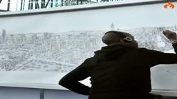 Autistic man Draws Amazing City Skyline strictly off memory