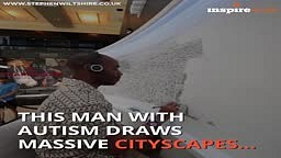 Autistic man Draws Amazing City Skyline strictly off memory
