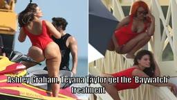 Teyana Taylor & Ashley Graham in Baywatch Bikinis