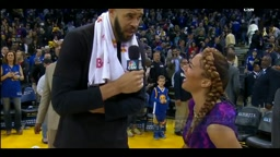 JaVale McGee flirts with news reporter So what do you think about my performance