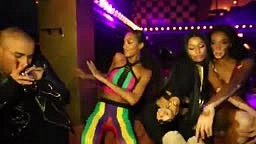 While Remy Dropped Another Diss… Nicki Minaj Was Twerking With Models In Paris