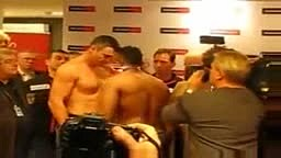 Chisora Slaps Klitschko at Weigh In