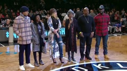 Diddy, Faith, Biggie's Mom & His Kids Are All Honored At The Brooklyn Nets Game