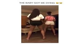 Girls start Twerking and 1 year old Baby joins the action