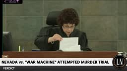 WAR MACHINE CONVICTED ON 29 COUNTS IN GF BEATING Hung Jury on Attempted Murder