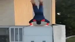 Spiderman Does Flips in a Yankee Fitted Hat and Timberlands