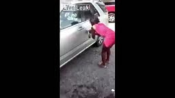 Watch This Woman DESTROY Her Cheating Boyfriend's Car