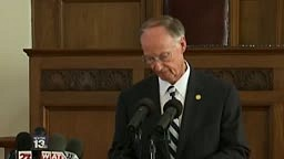 Alabama Gov. Is Nervous Giving Resignation For Sex Scandal