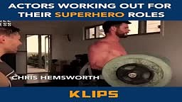 Actors working out for there SUPERHERO Roles