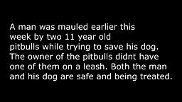 OMG! Man Mauled By Pit Bulls Trying To Save Lil Dog