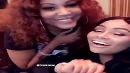 Blac chyna and Lhhh Lyrica Anderson in the studio together!
