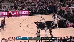 Minnesota Timberwolves vs SA Spurs Full Game Highlights 2017 NBA Season Opener