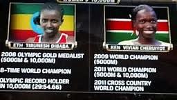 Tirunesh Dibaba Wins the womens 10,000 meters