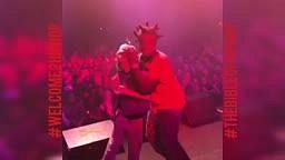 WEIRD!! Kodak Black SHAKES Little Boy HEAD Around on Stage During Live Concert