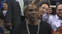 Dmx enjoys Ruff Ryder anthem during celtics vs lakers game