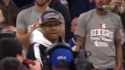 Allen Iverson Spotted in Philly at 76ers Game Gives Dap to Joel Embid
