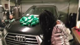 J Funk SCREAMS after Ap buys Dangerus Diva a NEW CAR for CHRISTMAS Audi Q7 2018