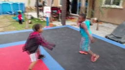 Kids play 1 v 1 Basketball J Funk vs Will vs Aniyah vs Caleb Part 1