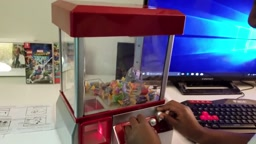 SUPER FUN Candy Claw Machine Winner gets Jolly Ranchers